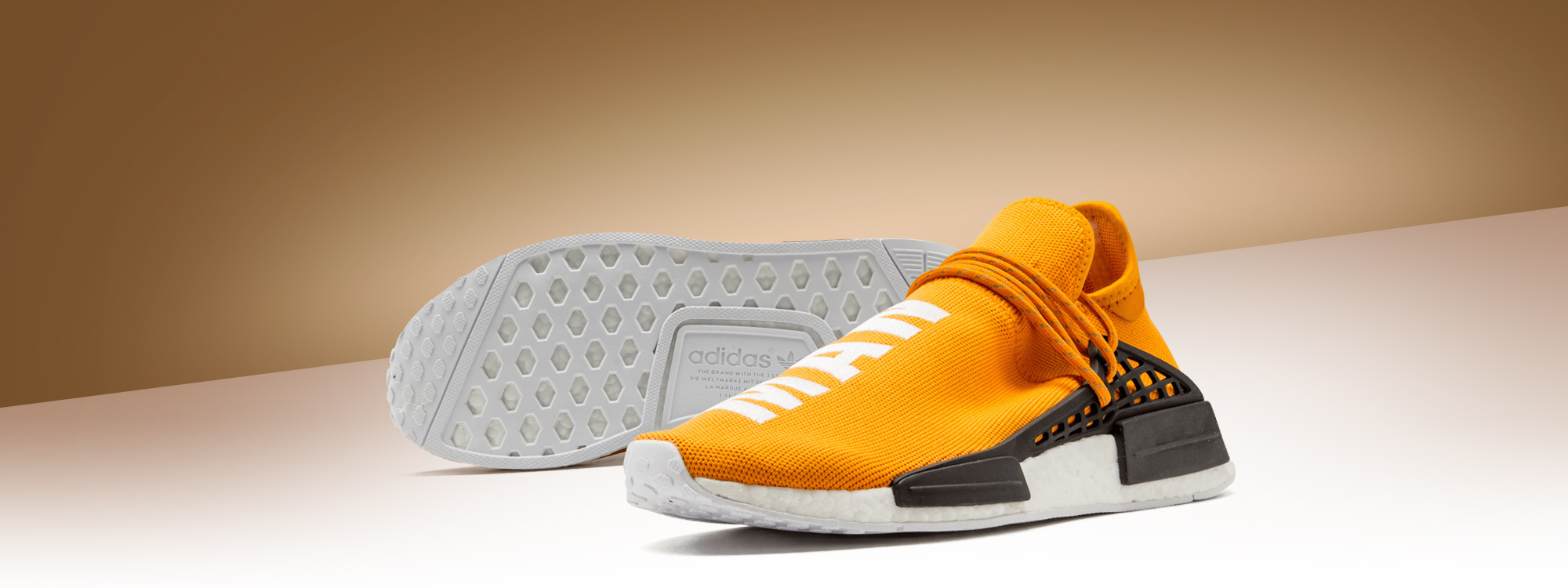 For sale Womens Human Race Adidas HU Tangerine / PW online