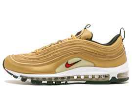 Perfect Nike AIR MAX 97 Metallic Gold 2017 OG QS Free Shipping via DHL for sale