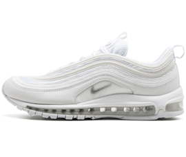 Perfect Nike AIR MAX 97 Triple White Free Shipping via DHL for sale