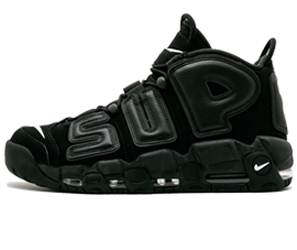 Perfect Nike UPTEMPO Supreme Black Free Shipping via DHL for sale