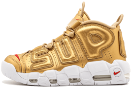 Perfect Nike UPTEMPO Supreme Metallic Gold Free Shipping via DHL for sale