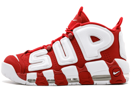 Perfect Nike UPTEMPO Supreme Varsity Red Free Shipping via DHL for sale