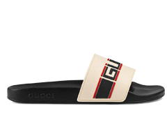 Stripe Rubber Slide Sandal