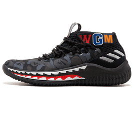 Perfect BAPE Sneakers Damian Lillard Free Shipping via DHL for sale