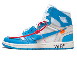 Perfect Nike Off-White Air Jordan 1 Blue / OW Free Shipping via DHL for sale