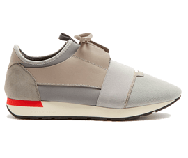 Perfect Balenciaga Race Runner Gray / Red Free Shipping via DHL for sale