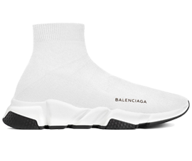 Perfect Balenciaga Speed Trainers Mid White Black Free Shipping via DHL for sale