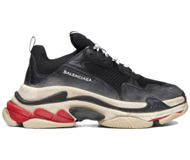 Perfect Balenciaga Triple S Trainers Black / Red Free Shipping via DHL for sale