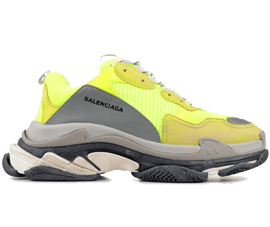 Perfect Balenciaga Triple S Trainers Jaune Fluo Free Shipping via DHL for sale
