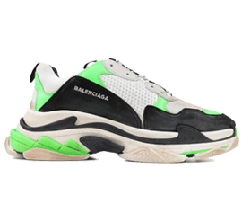 Perfect Balenciaga Triple S Trainers White / Black / Neon Free Shipping via DHL for sale