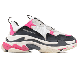 Perfect Balenciaga Triple S Trainers PINK / Black Free Shipping via DHL for sale