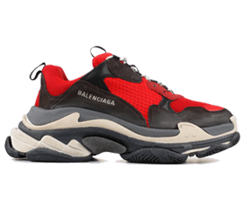 Perfect Balenciaga Triple S Trainers RED / Black Free Shipping via DHL for sale