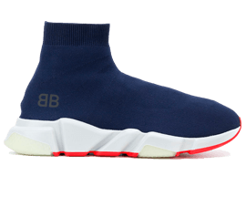 Perfect Balenciaga Speed Trainers Mid Navy Free Shipping via DHL for sale