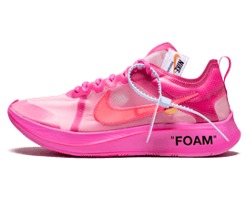 New Nike Off-White The 10 / OW Zoom Fly Tulip Pink