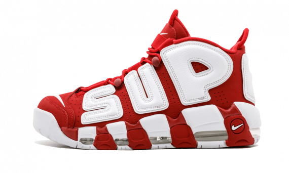 $185 Perfect Nike UPTEMPO Supreme Varsity Red Free Shipping via DHL buy