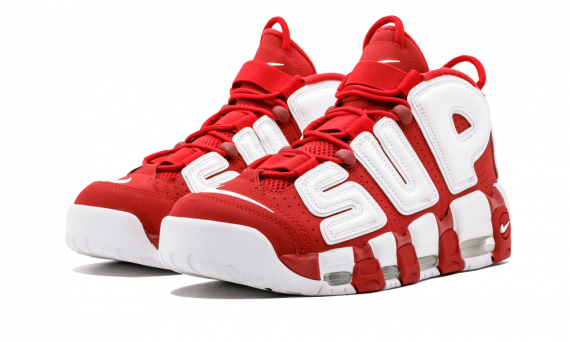 How to get Nike UPTEMPO Supreme Varsity Red