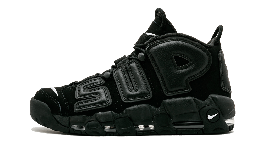 $225 Perfect Nike UPTEMPO Supreme Black Free Shipping via DHL shop