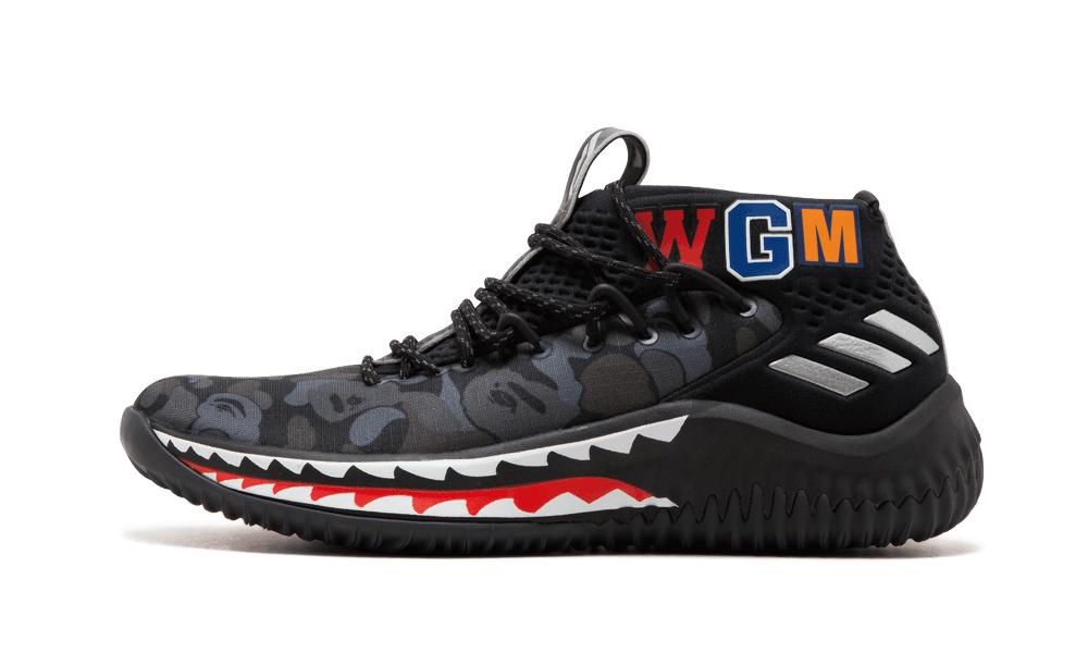 $195 Perfect BAPE Sneakers Damian Lillard Free Shipping Worldwide store
