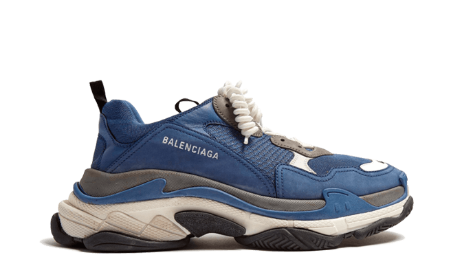 $285 Perfect Balenciaga Triple S Trainers Navy Gray Free Shipping via DHL snkrs