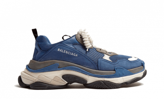 BALENCIAGA TRIPLE S TRAINERS Navy Gray