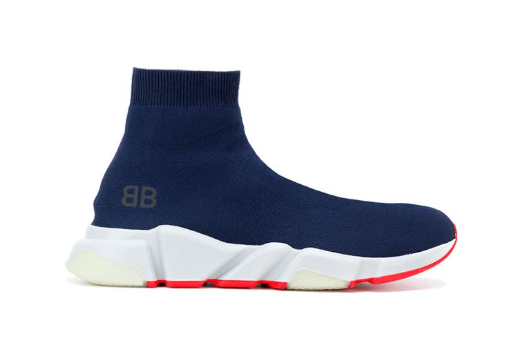 Buy New  Balenciaga  Speed  Trainers Mid Navy
