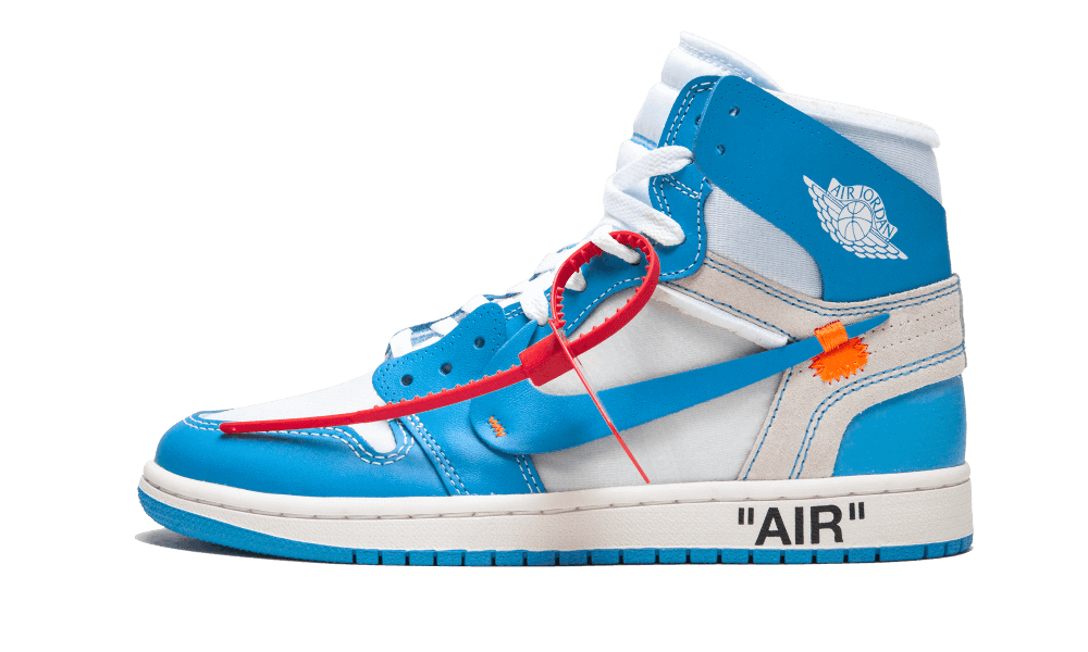 $225 Perfect Nike Off-White Air Jordan 1 Blue / OW Free Shipping Worldwide new