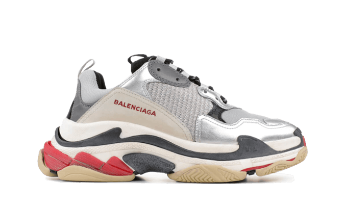 Buy New  Balenciaga  Triple S Trainers Sliver / Black / Red sneakers