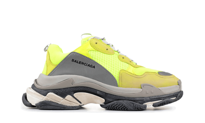 $255 Perfect Balenciaga Triple S Trainers Jaune Fluo Free Shipping via DHL cheap