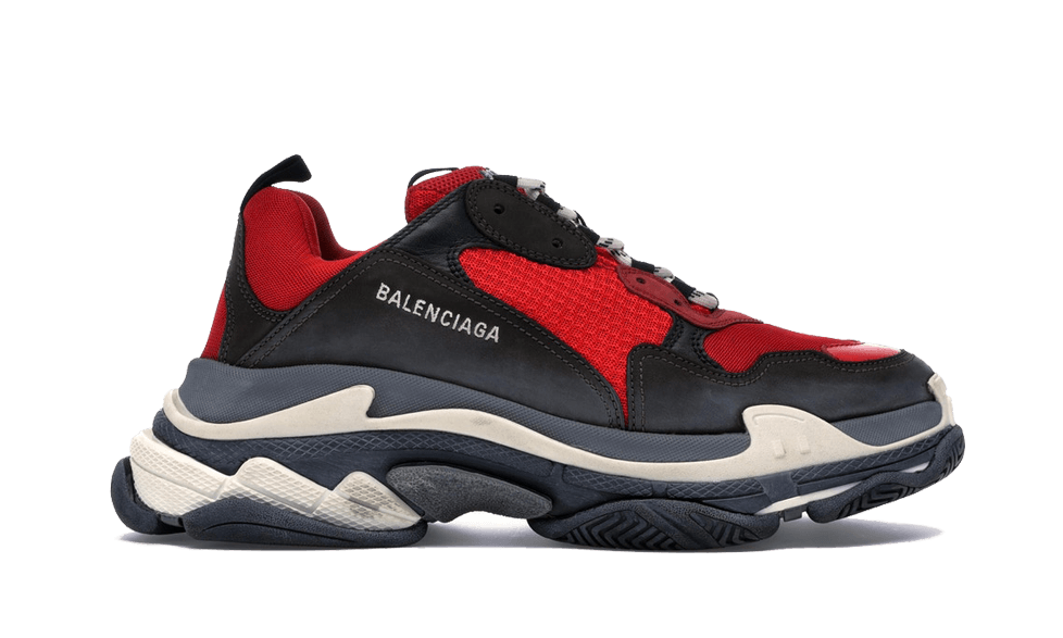 $285 Perfect Balenciaga Triple S Trainers RED / Black Free Shipping via DHL price