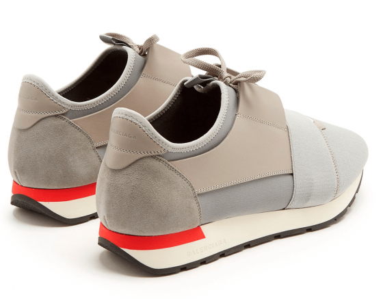 Order Womens Balenciaga Race Runner Gray / Red online