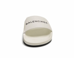 BALENCIAGA Logo-debossed SANDALS - White / Black