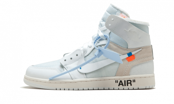 check out 1850b df4ee How to get Womens Nike Off-White Air Jordan 1 OG White / OW sneakers online