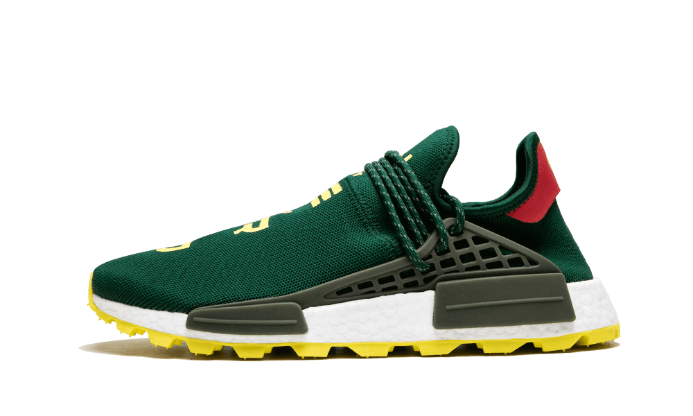 Cheap Human Race Adidas HU Trail NERD Green / PW shoes online