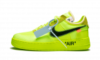 Womens Nike Off-White Air Force 1 Low / OW Volt shoes