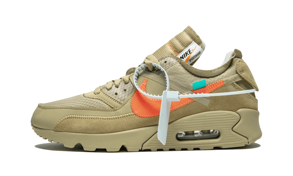 $195 Perfect Nike Off-White    Air Max 90 / OW Desert Ore Free Shipping via DHL snkrs