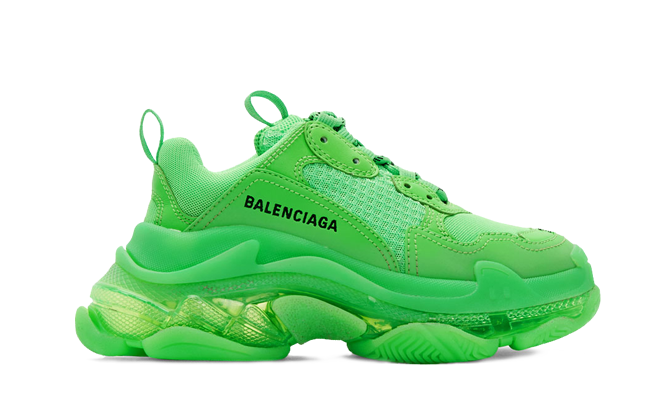Buy New  Balenciaga  Triple S Trainers Neon Green sneakers