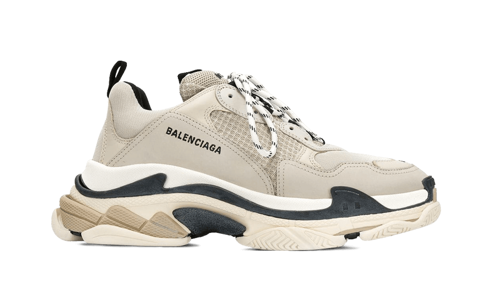 Buy New  Balenciaga  Triple S Trainers BEIGE / BLACK sneakers