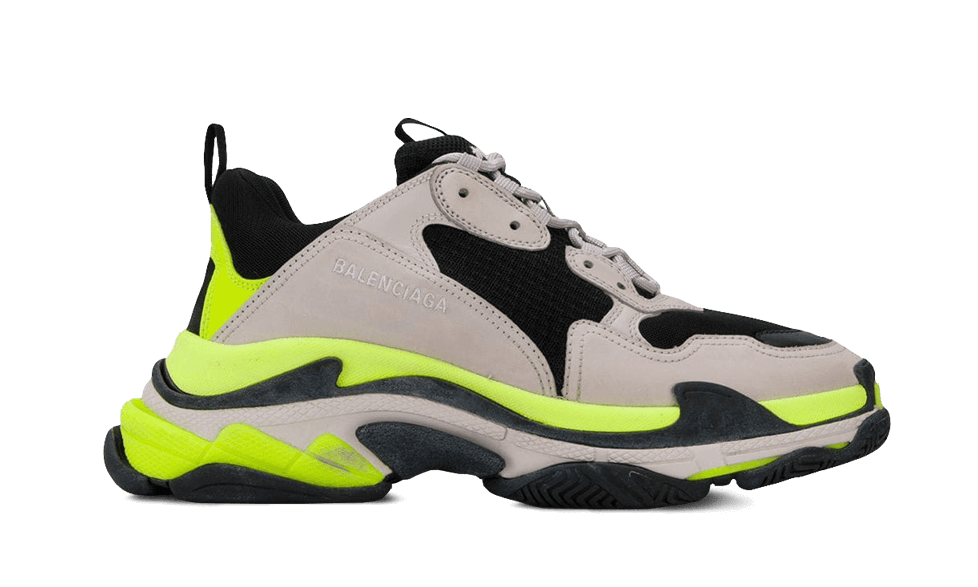 Buy New  Balenciaga  Triple S Trainers GREY / YELLOW / FLUO / BLACK