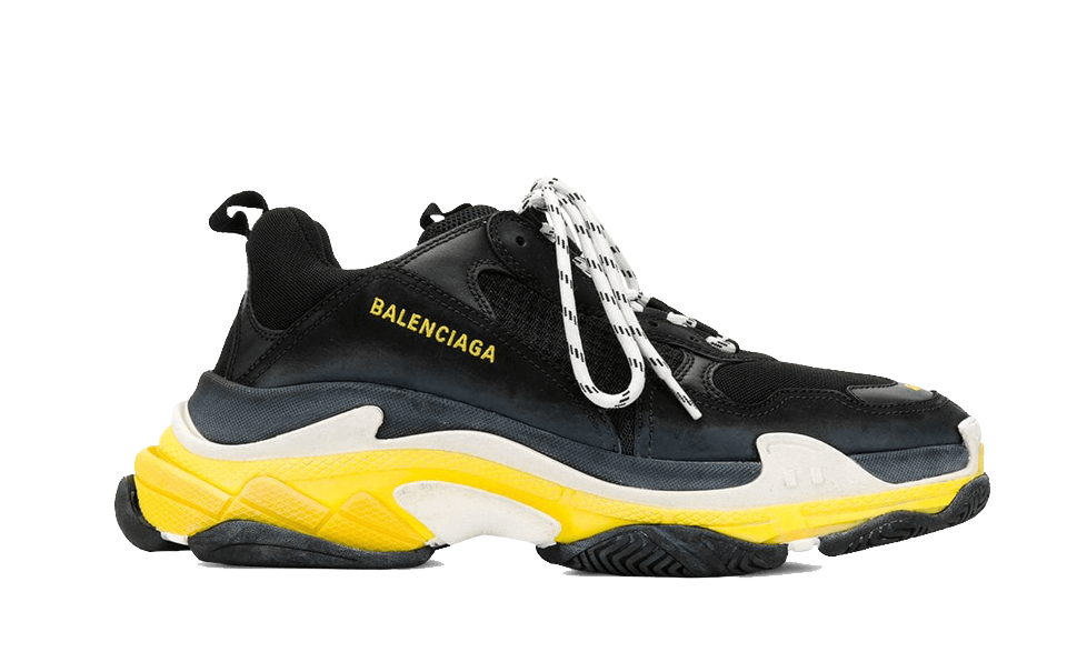 Buy New  Balenciaga  Triple S Trainers NOIR / JAUNE