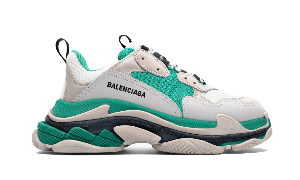 Buy New  Balenciaga  Triple S Trainers White / Green sneakers