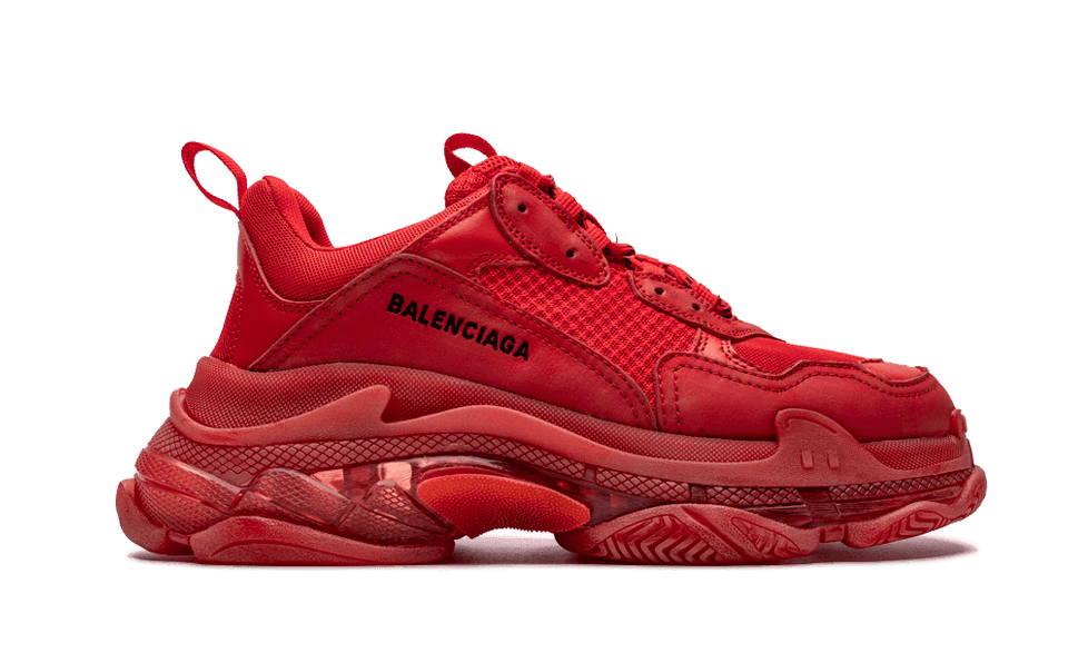 Buy New  Balenciaga  Triple S Trainers Clear Sole / Red sneakers