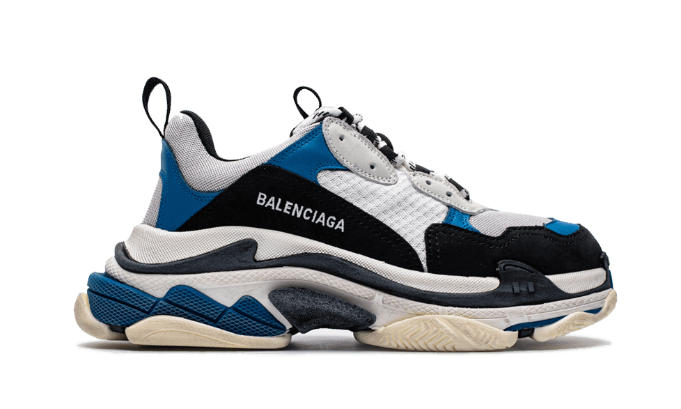 Buy New  Balenciaga  Triple S Trainers Blue / Black / White sneakers