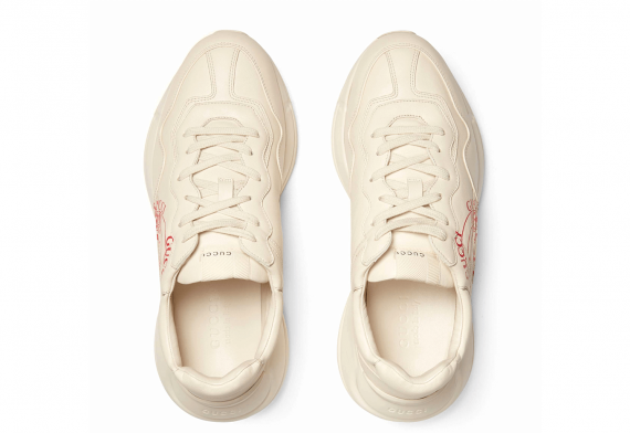 Gucci Rhyton Print Leather Sneaker