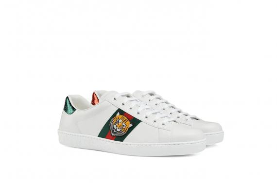 Gucci Ace Tiger Appliqued Sneakers