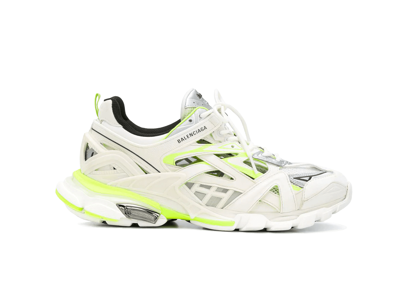 Buy Womens      White and Neon Yellow shoes online