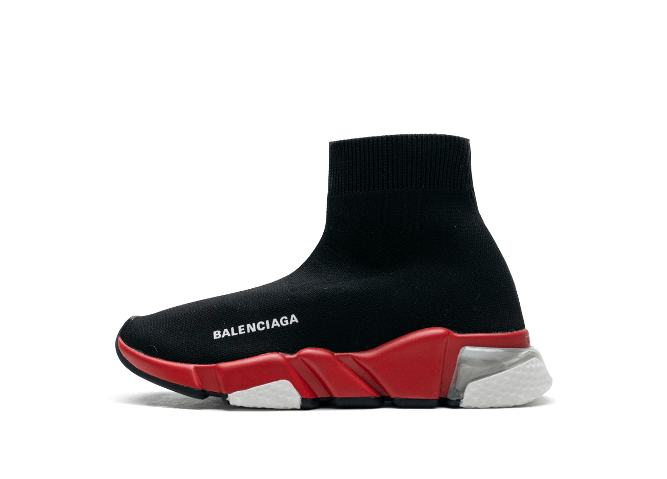Buy New  Balenciaga  Speed  Trainers Clear Sole Black Red