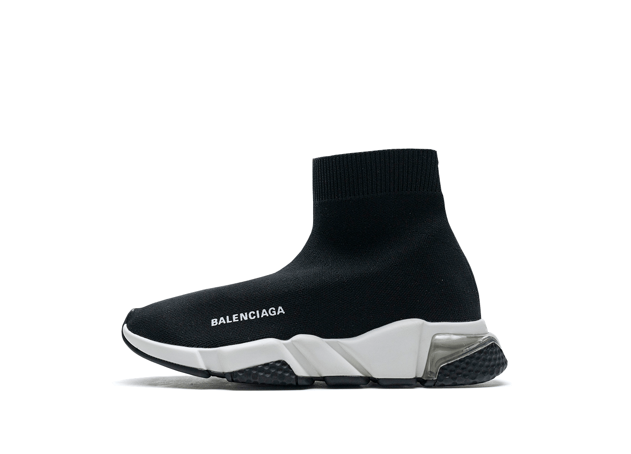 Buy New  Balenciaga  Speed  Trainers Clear Sole Black White