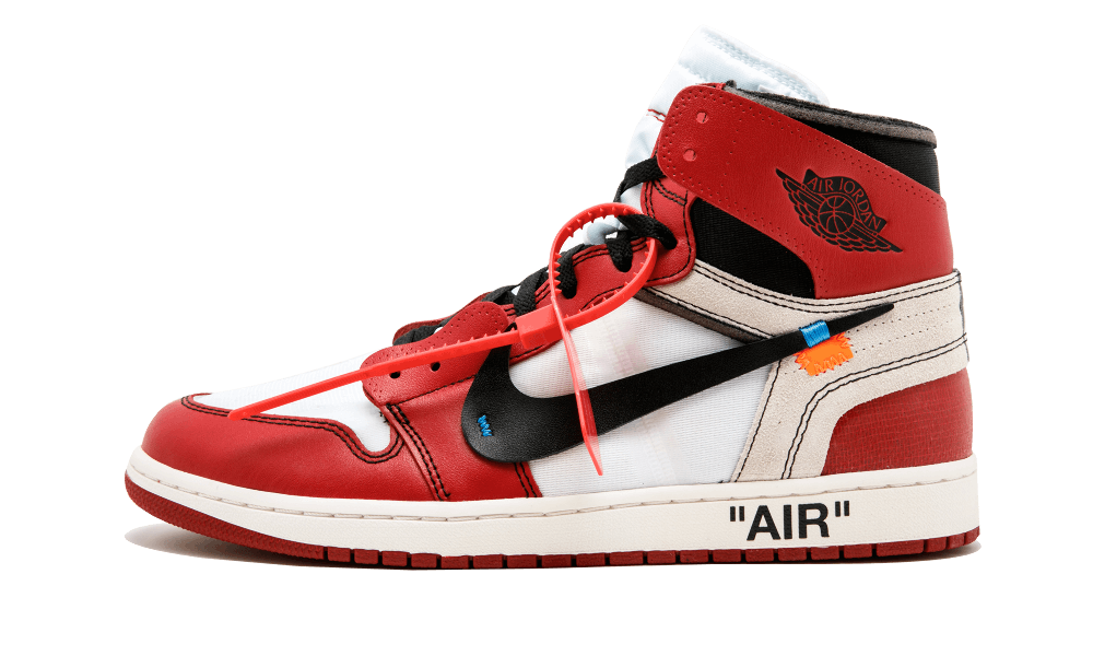 $225 Perfect Nike Off-White Air Jordan 1 Red / OW Free Shipping via DHL sneakers
