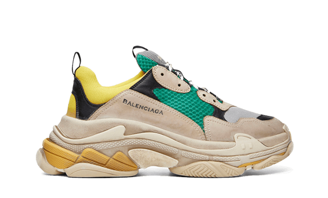 Buy New  Balenciaga  Triple S Trainers Green / Yellow sneakers