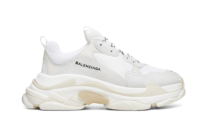 $285 Perfect Balenciaga Triple S Trainers White Free Shipping Worldwide new